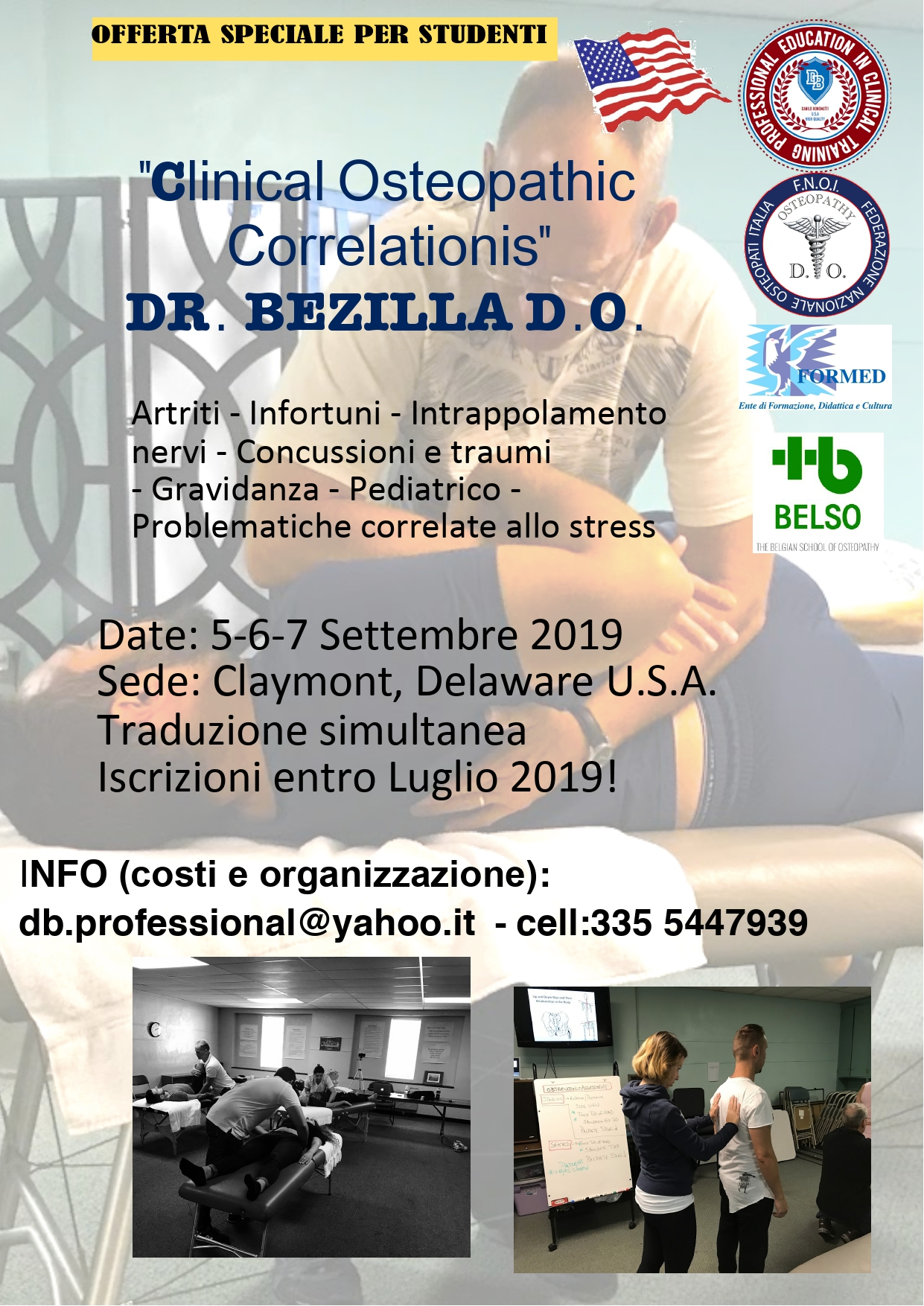 Clinical Osteopathic Correlationis | FORMED – Ente di Formazione